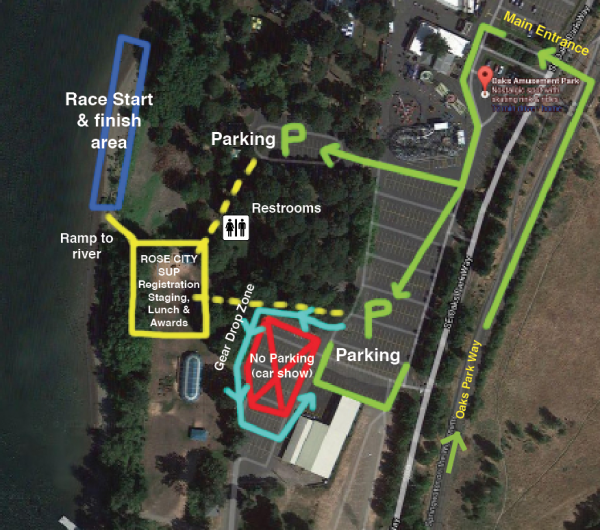 Oaks Park layout